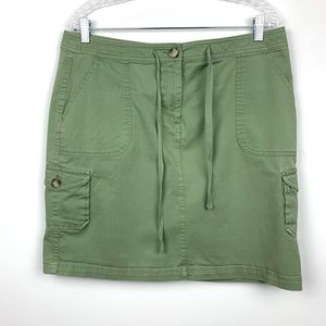 L.L. Bean Skirt Favorite Fit Green Color